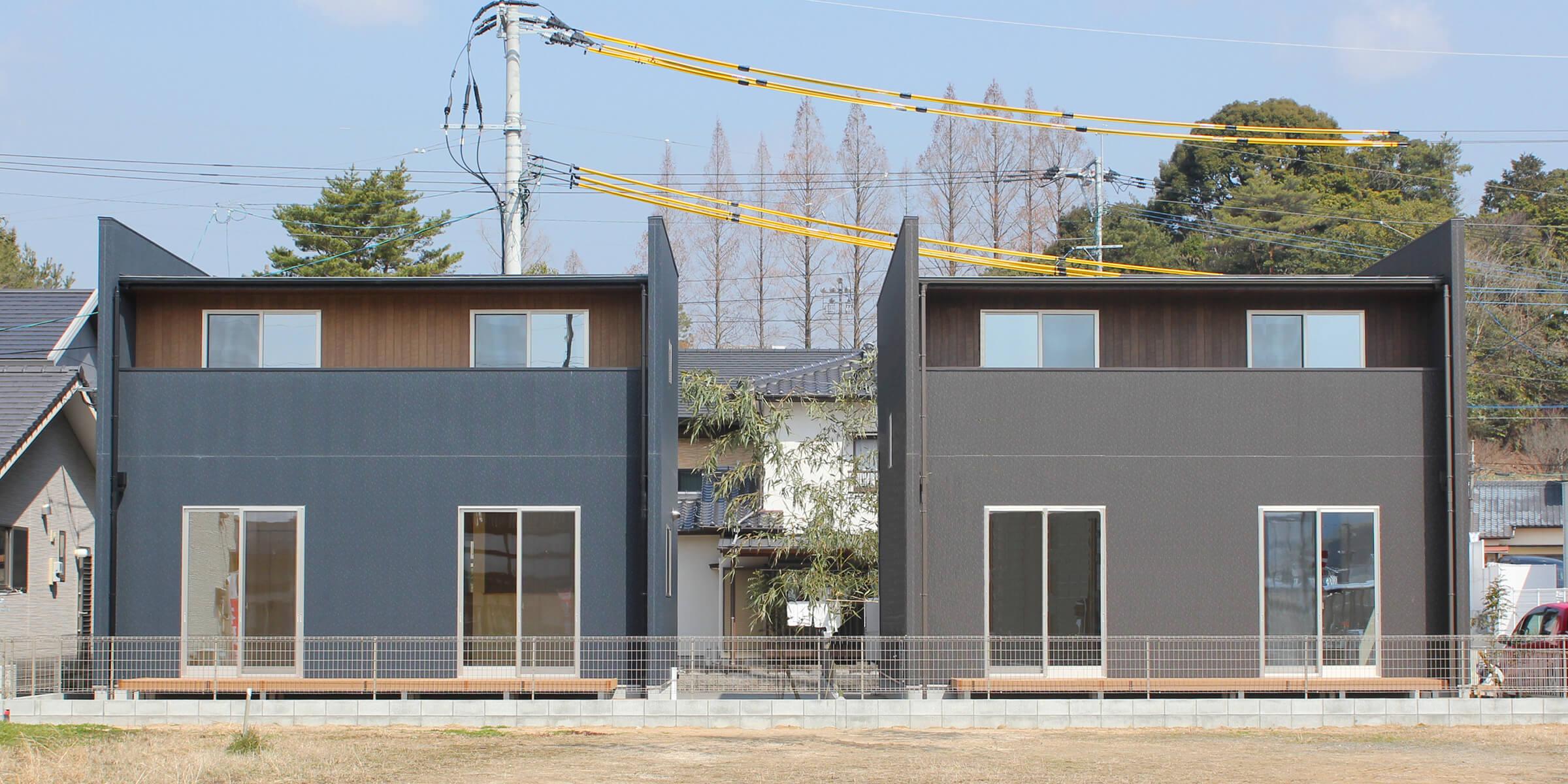新築一戸建て建売住宅「OURS CASA 多久駅前 A/B号地」外観