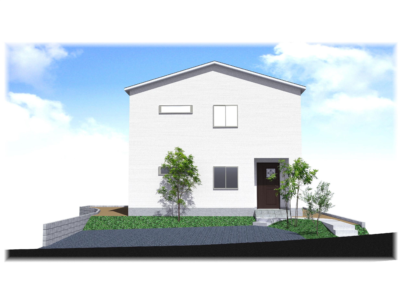 武雄町富岡の新築建売「OURS TERRACE 富岡 1号地」の外観イメージパース
