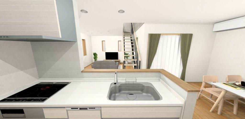 小城市新築建売住宅OURS三日月1号地・キッチンパース
