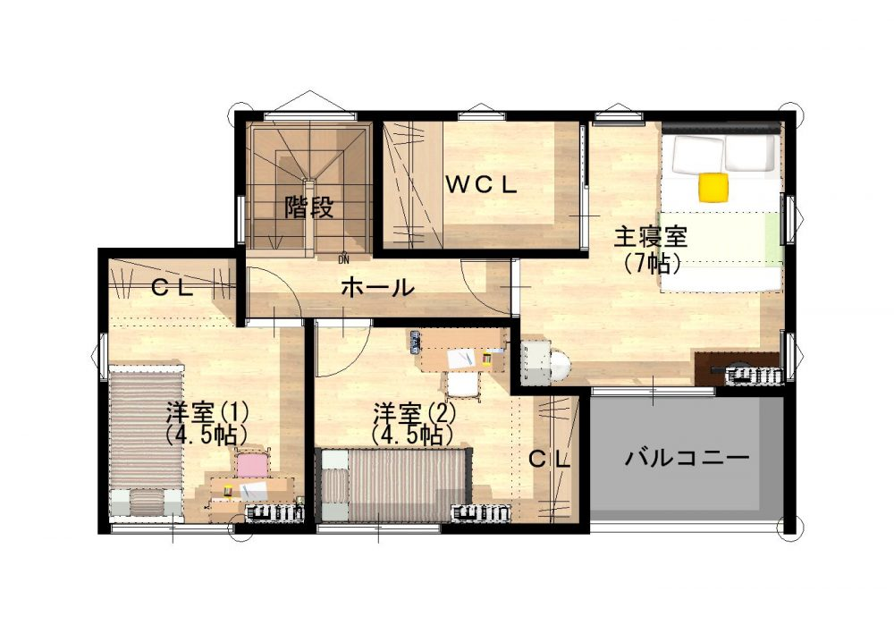 OURS 黒川 2号地 2F間取り図