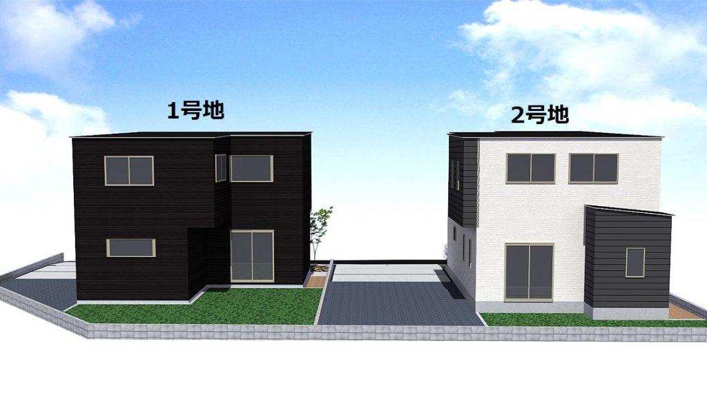 佐賀市新築建売住宅OURS三日月1号地・中庭パース