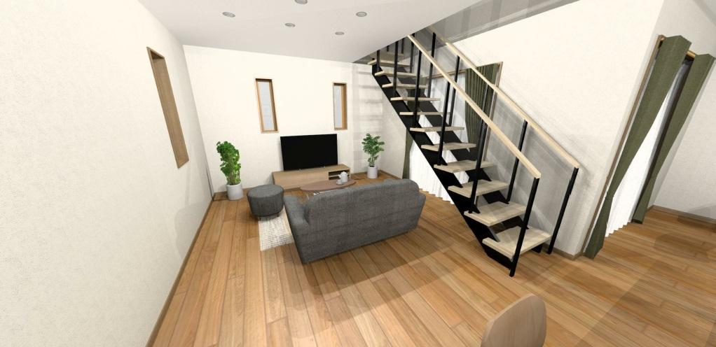 小城市新築建売住宅OURS三日月1号地・リビングパース