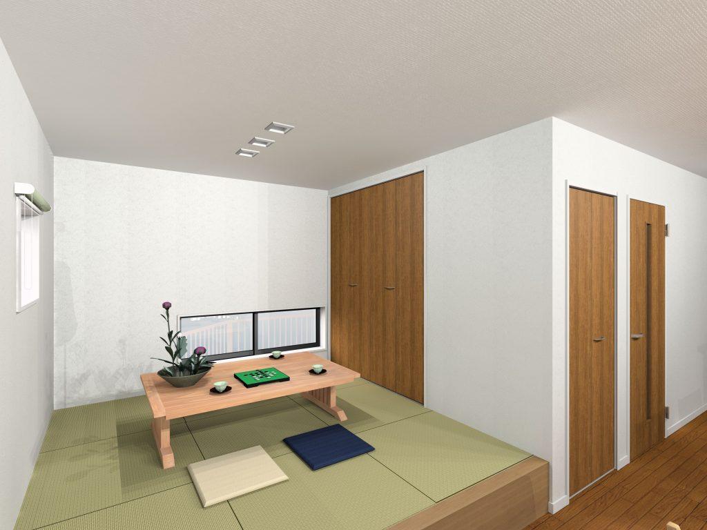 大村市新築建売住宅 「OURS小川内 1号地」「和室」パース