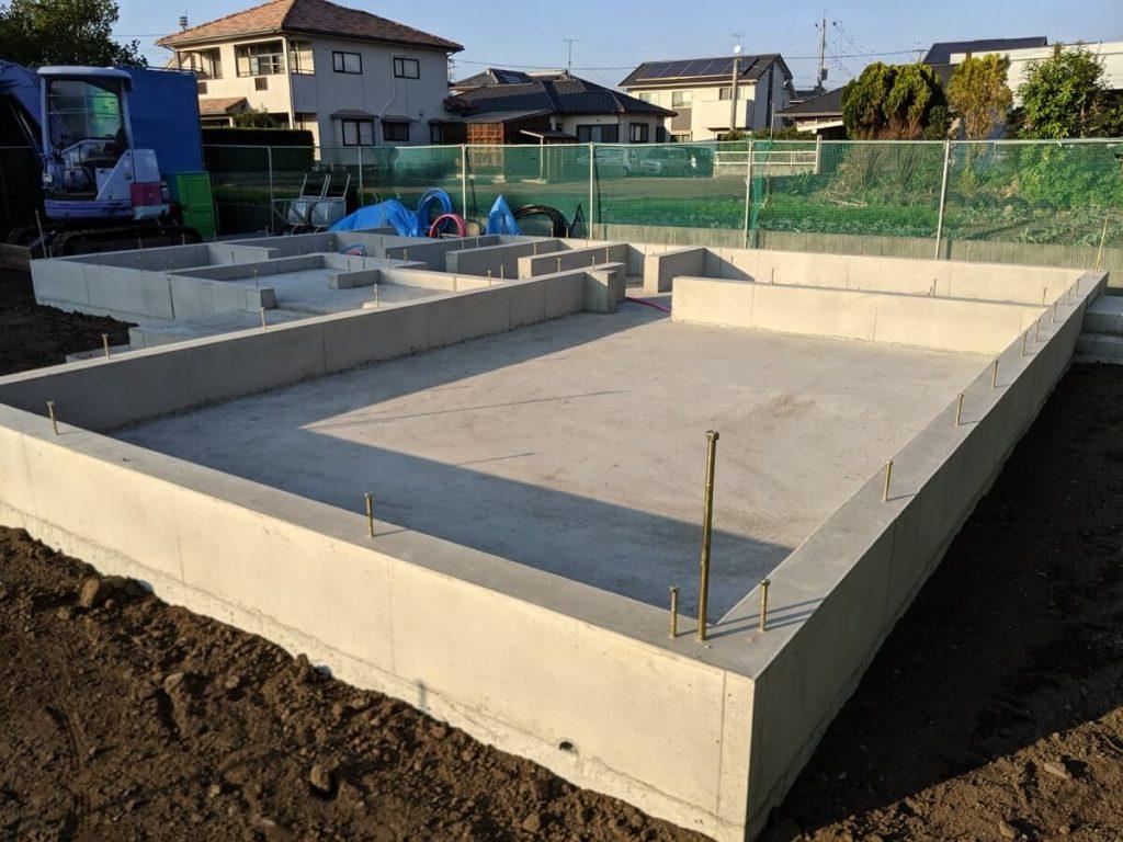 大村市新築戸建建売住宅 「OURS大川田 1号地」基礎工事完了