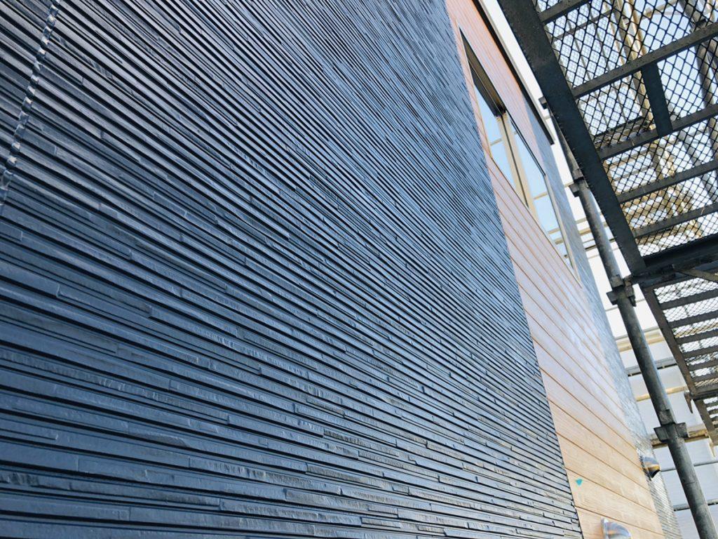 大村市新築戸建建売住宅「OURS大川田1号地」外壁 ◆12月23日撮影