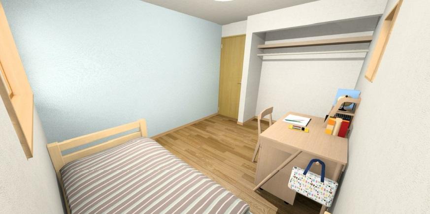 小城市新築建売住宅OURS三日月2号地・洋室1パース