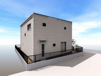 大村市大川田町新築建売住宅OURS大川田3号地完成外観パース