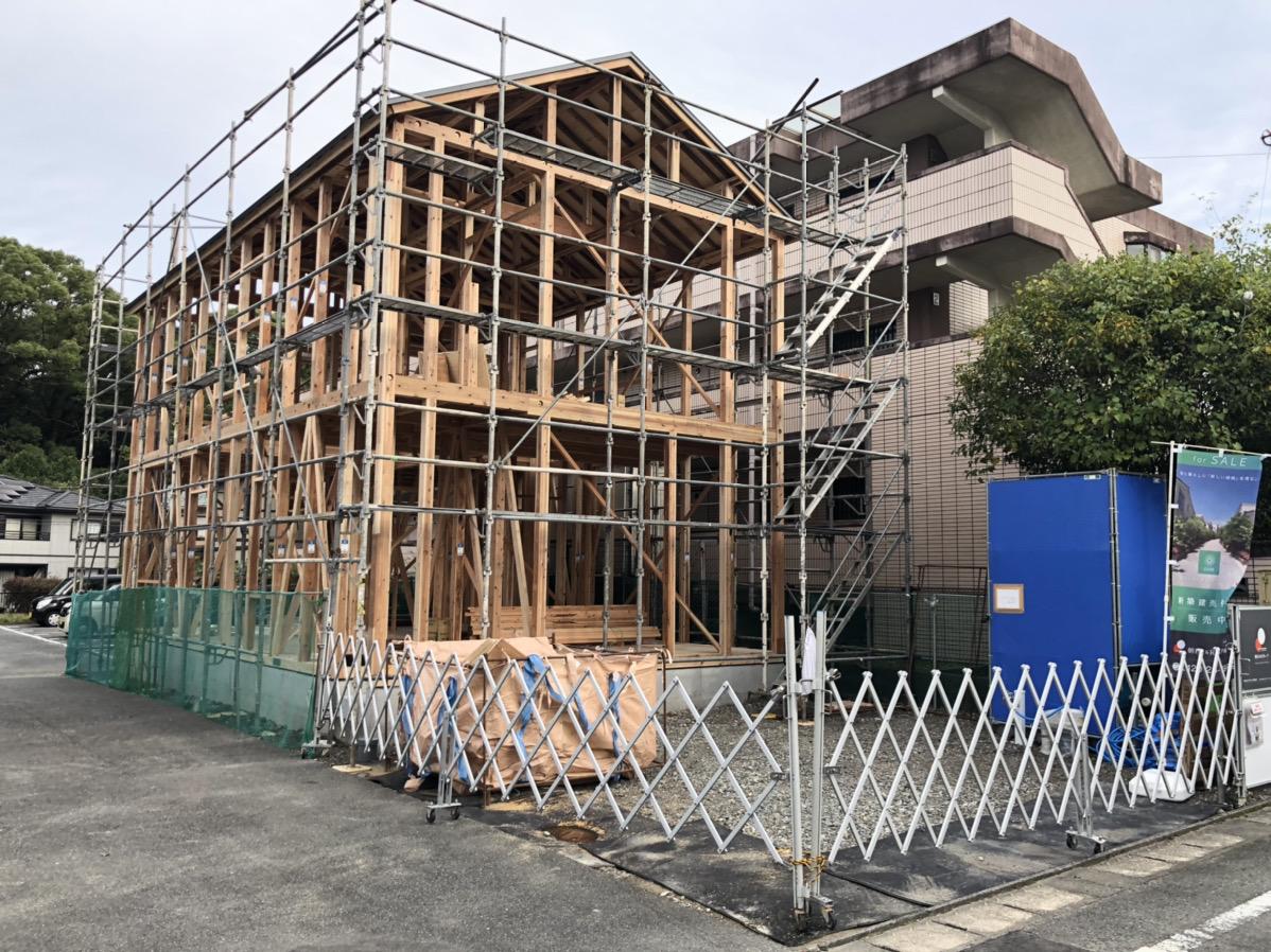 新築建売住宅「OURS 筑紫野原田」上棟後