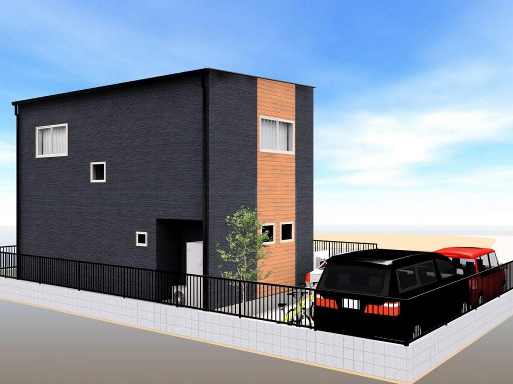 大村市新築戸建建売住宅 「OURS大川田 1号地」完成外観パース