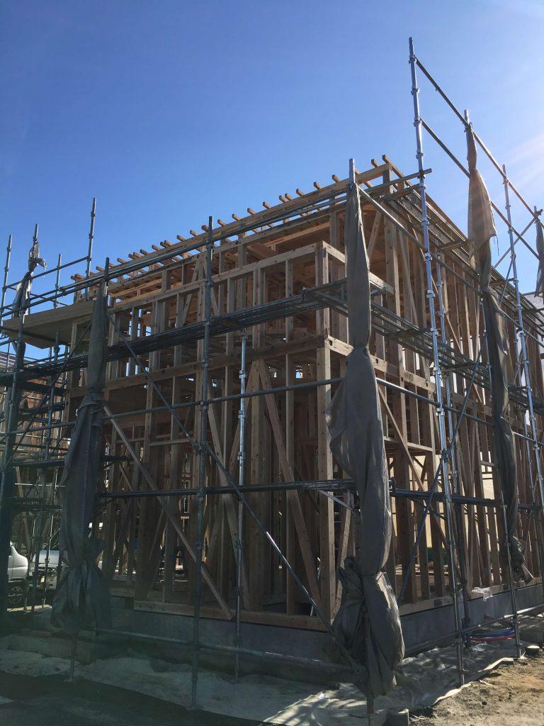 小城市新築建売住宅【OURS三日月】上棟翌日