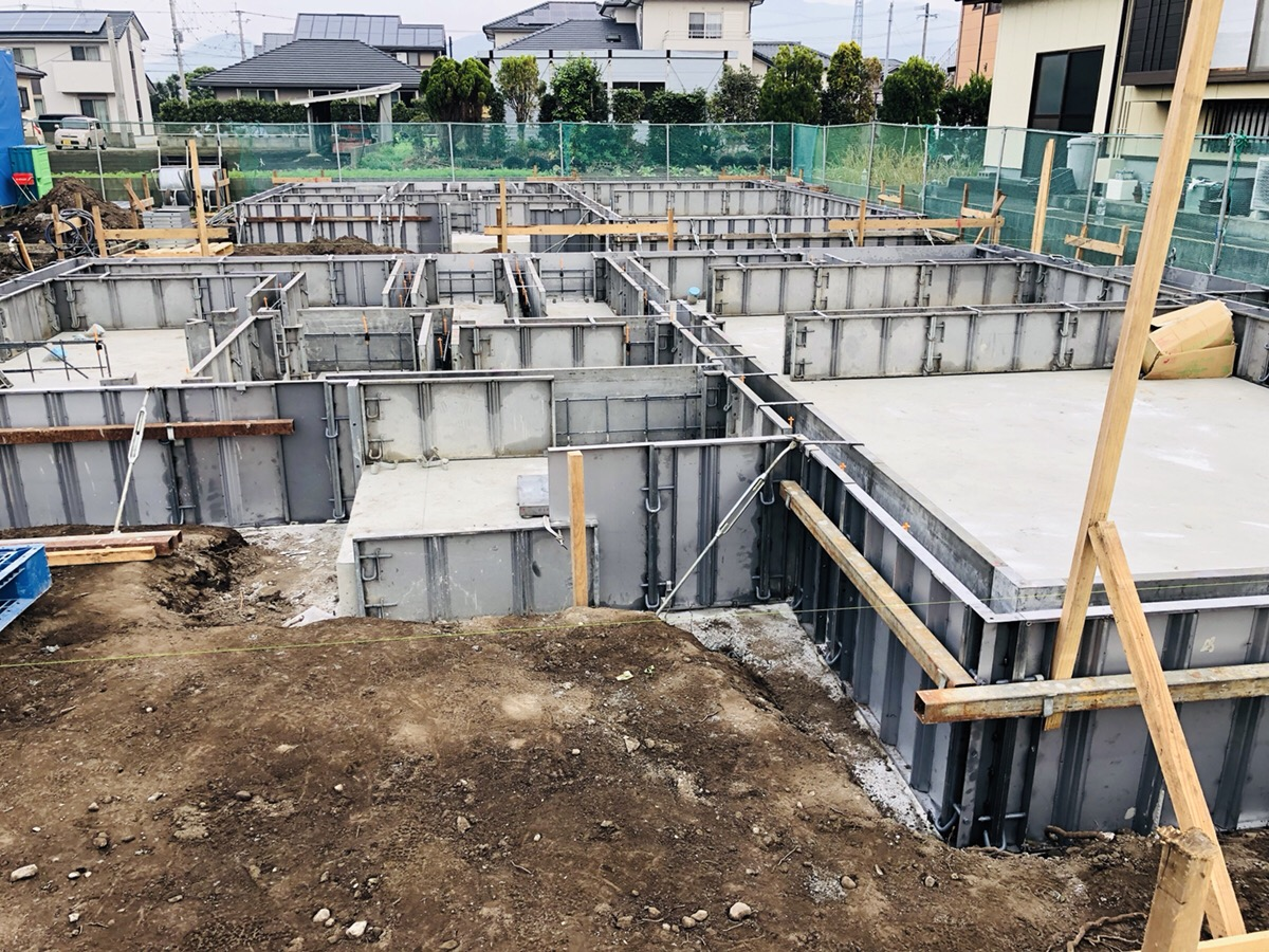 大村市大川田町・新築建売住宅・OURS大川田(基礎工事3)