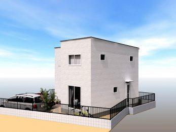 大村市大川田町新築建売住宅OURS大川田2号地完成外観パース