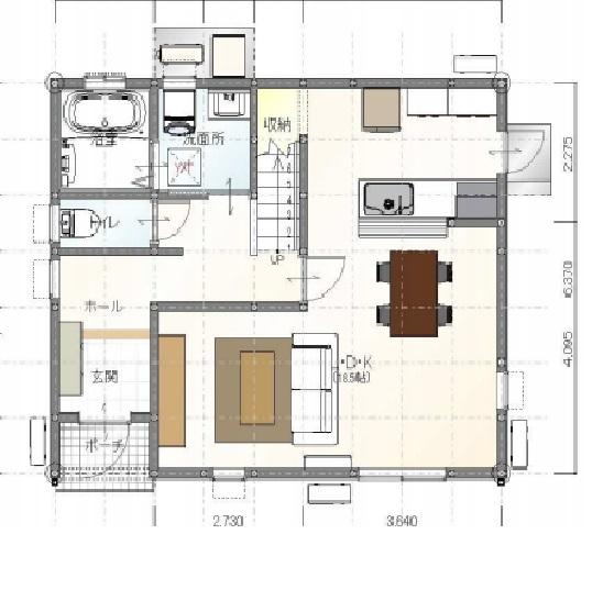 甘久Ⅳ8号地1階間取図