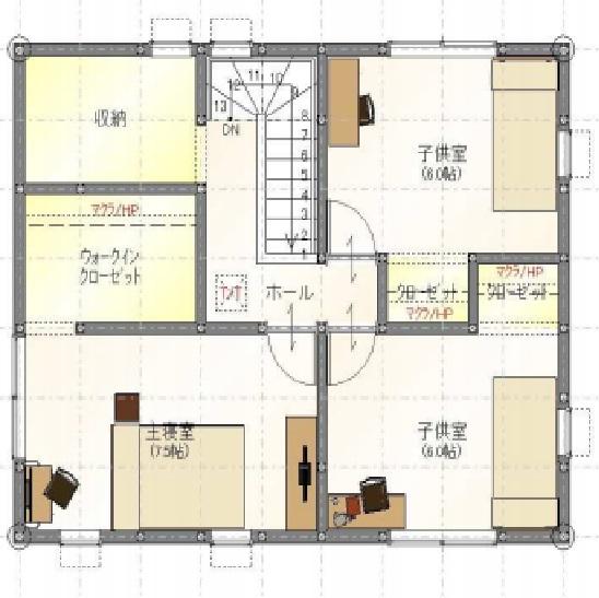 甘久Ⅳ8号地2階間取図