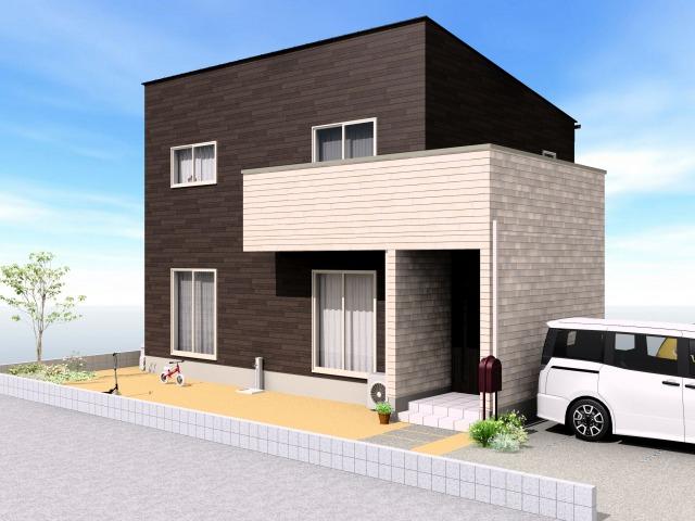 伊万里市 新築戸建建売住宅「OURS脇田」外観パース