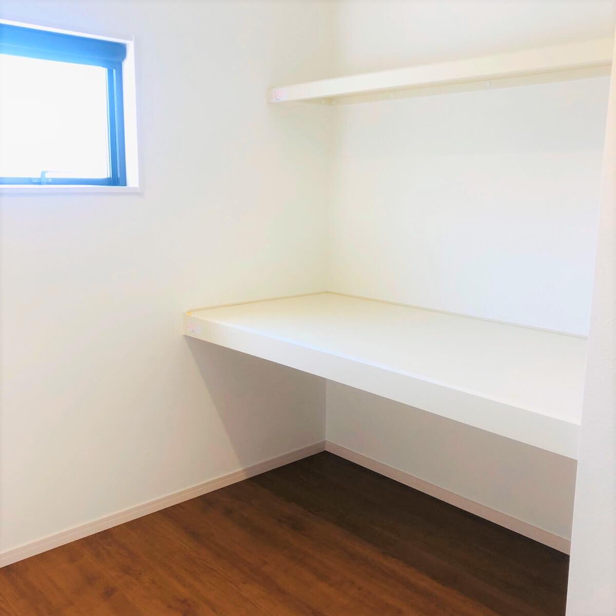 大村市新築建売住宅 「OURS小川内 1号地」「ファミリークローク」パース ◆家族みんなの荷物を収納できお片付けも楽ちんです。