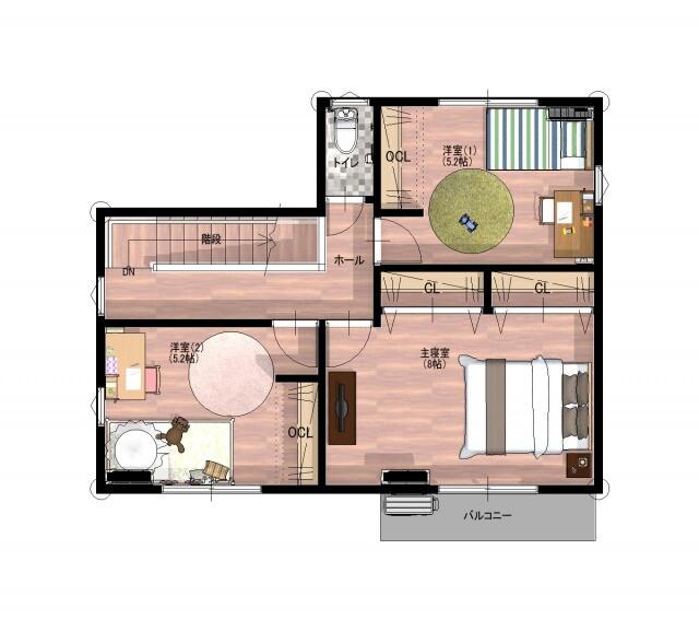 伊万里市 新築戸建建売住宅「OURS脇田」平面図2階