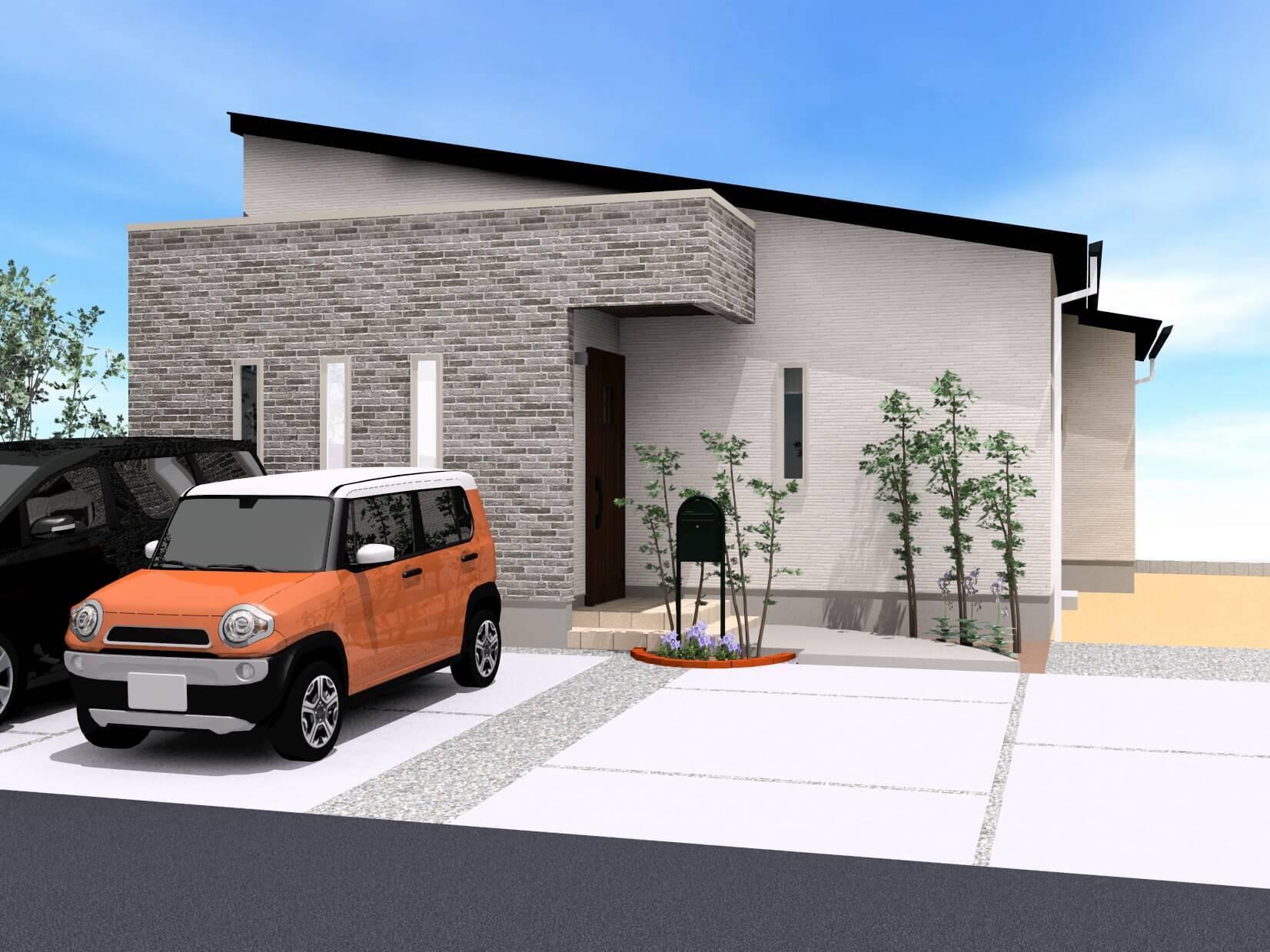 白石町東郷 新築住宅 「OURS白石東郷2号地」◆外観イメージパース