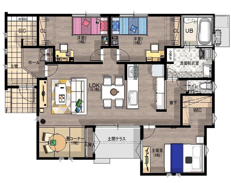 白石町東郷 新築住宅 「OURS白石東郷2号地」◆間取図