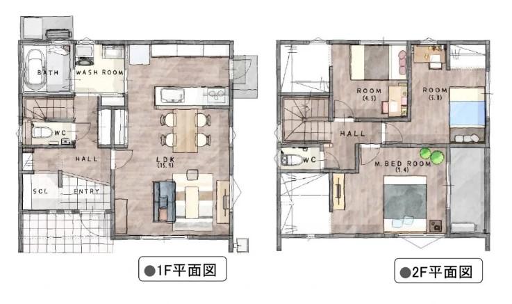 神埼市新築建売住宅【OURS神埼1号地】間取図