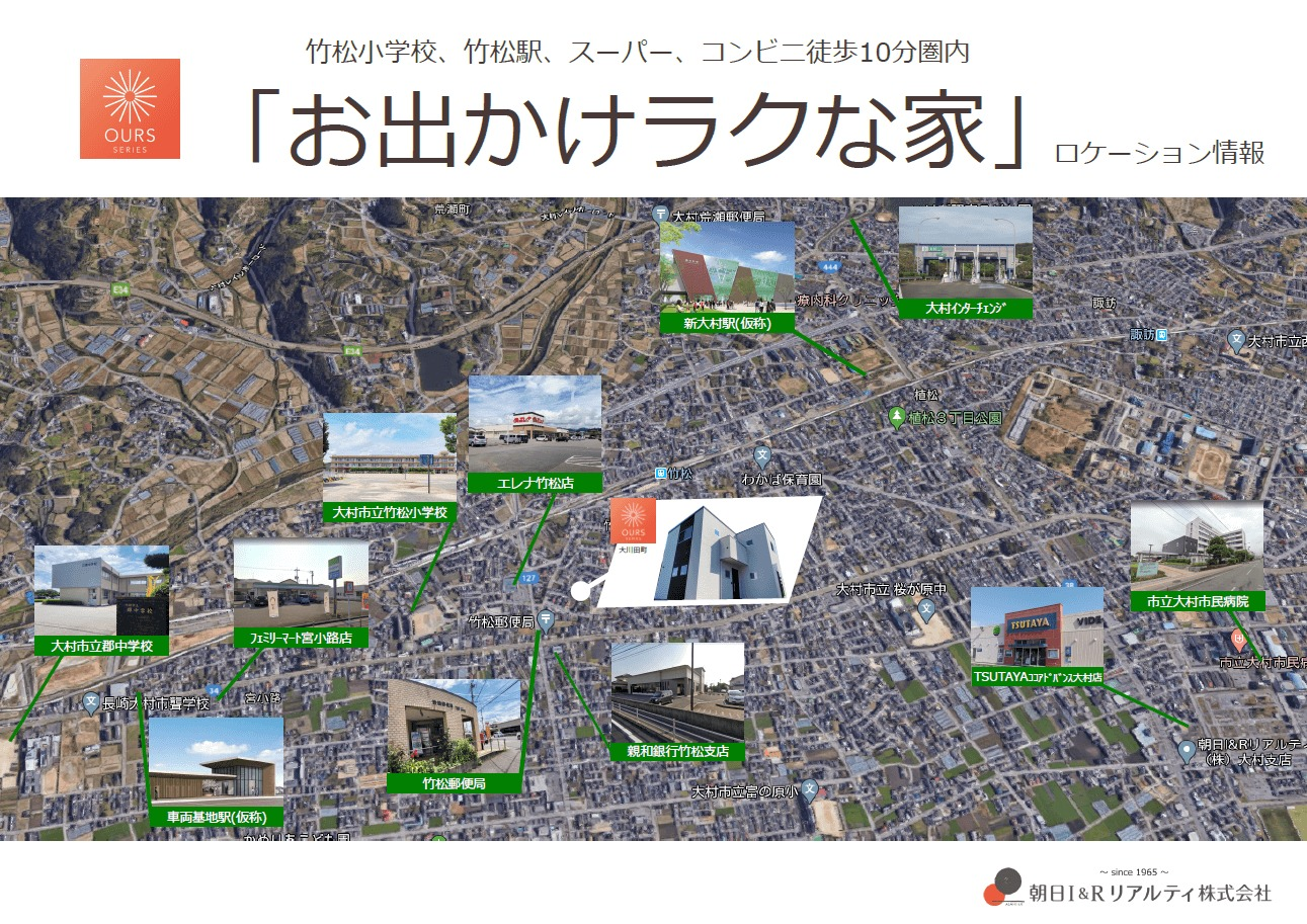 OURS大川田ロケーション情報(航空写真)
