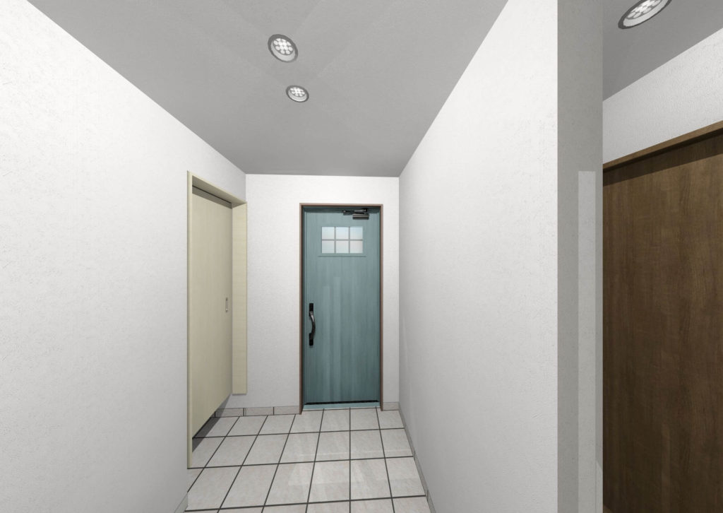 白石町東郷新築住宅「OURS白石東郷1号地」「大人可愛い2階建て住宅」◆室内玄関イメージ