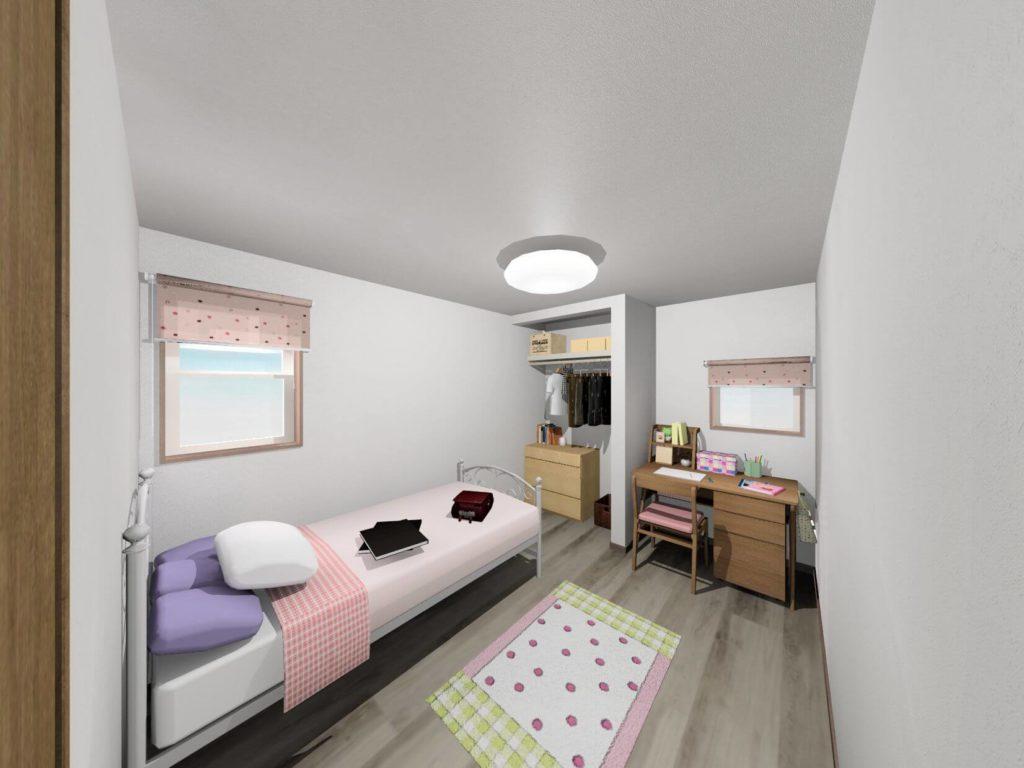 白石町東郷新築住宅「OURS白石東郷1号地」「大人可愛い2階建て住宅」◆洋室イメージ