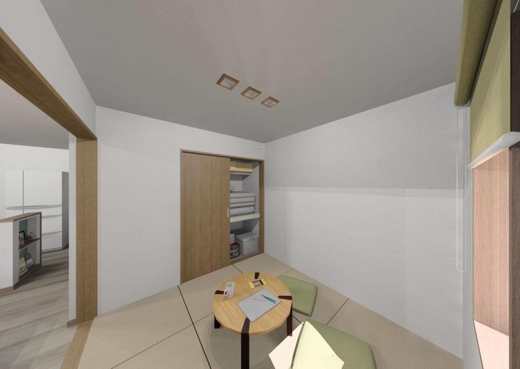 白石町東郷新築住宅「OURS白石東郷1号地」「大人可愛い2階建て住宅」◆和室イメージ
