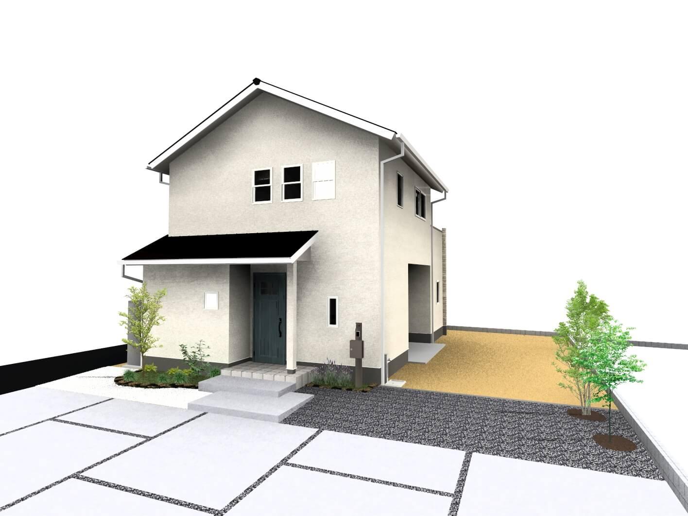 白石町東郷新築住宅「OURS白石東郷1号地」「大人可愛い2階建て住宅」◆外観イメージ