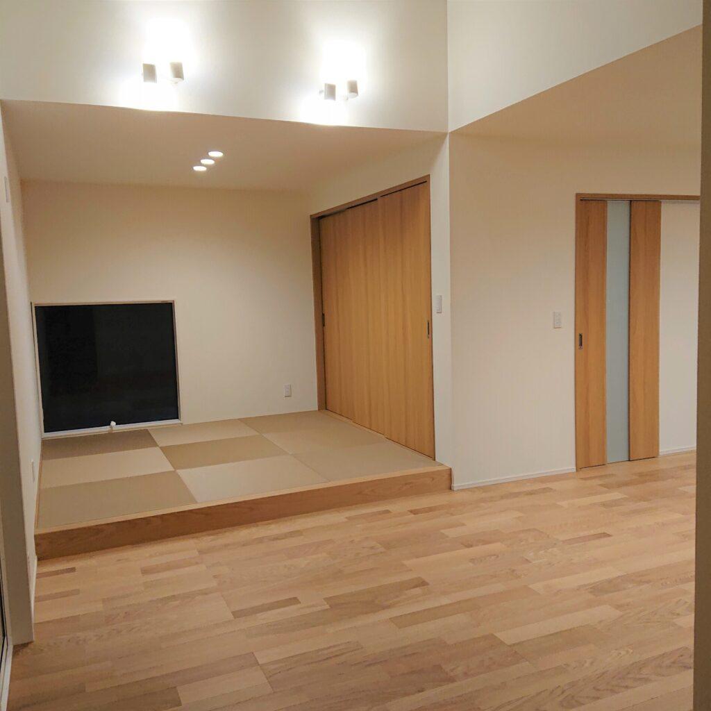 佐賀市新築建売住宅「OURS神園2号地」LDK~和室