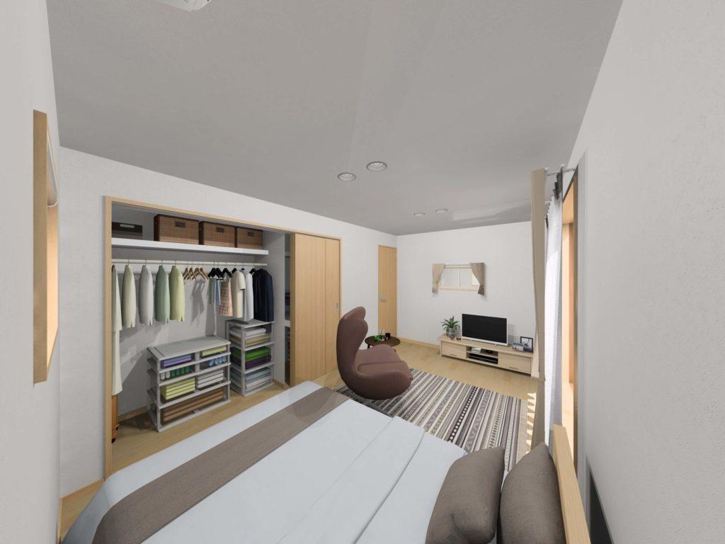 武雄市武雄町 新築建売住宅「OURS永島Ⅱ5号地」◆2F主寝室イメージ