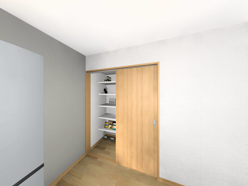 武雄市武雄町 新築建売住宅「OURS永島Ⅱ5号地」◆キッチン収納