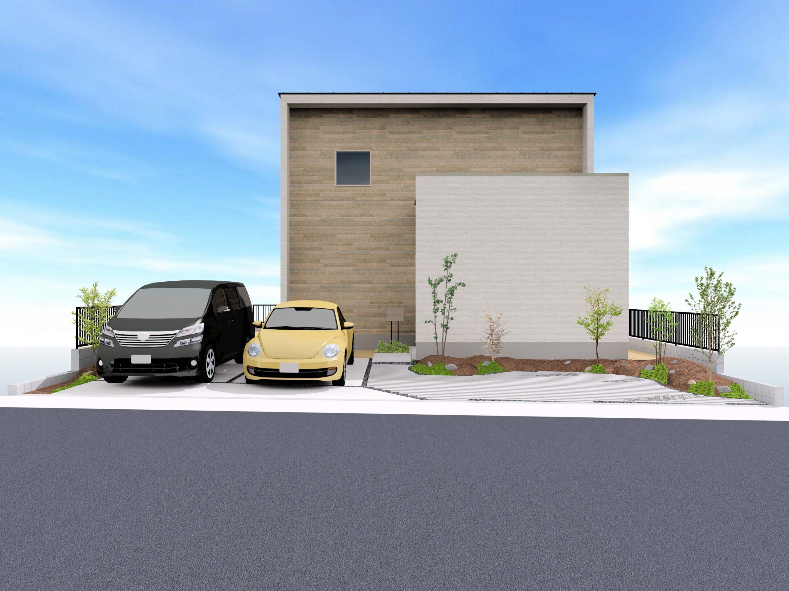 神埼市新築建売住宅「OURS神埼町Ⅱ2号地」外観パース