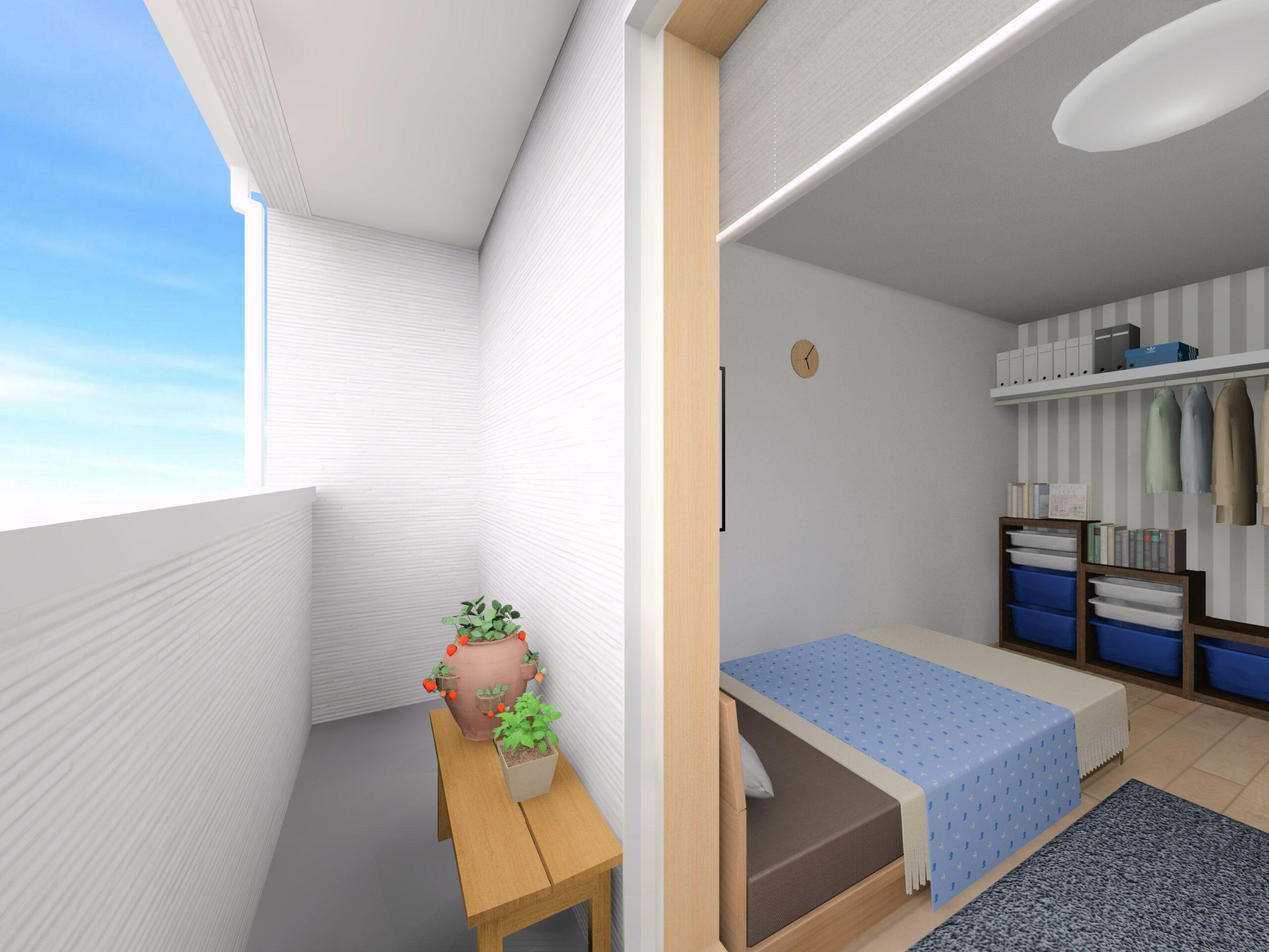 嬉野市新築建売住宅「OURS下野1号地」バルコニーパース