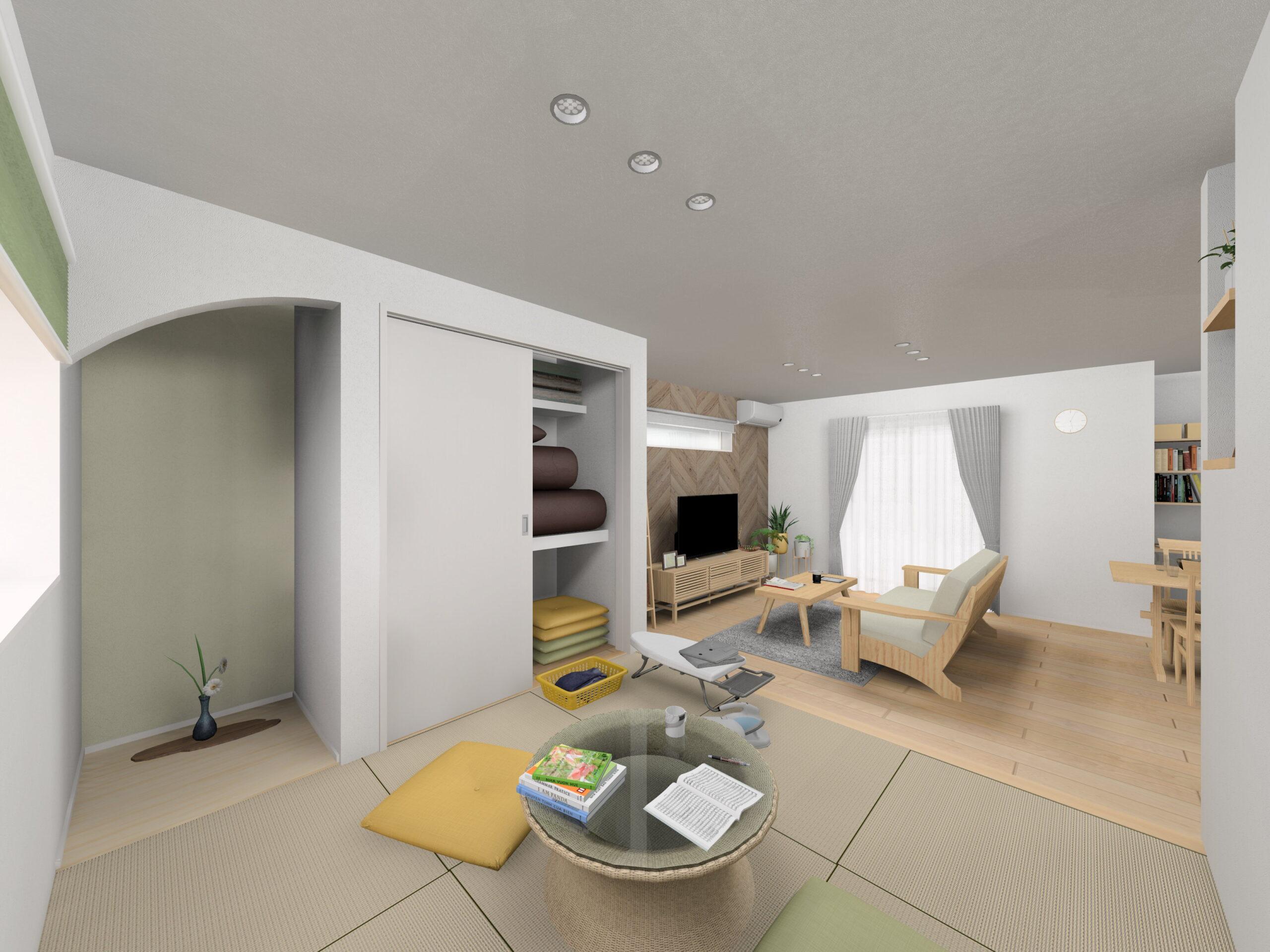 嬉野市新築建売住宅「OURS下野2号地」和室パース