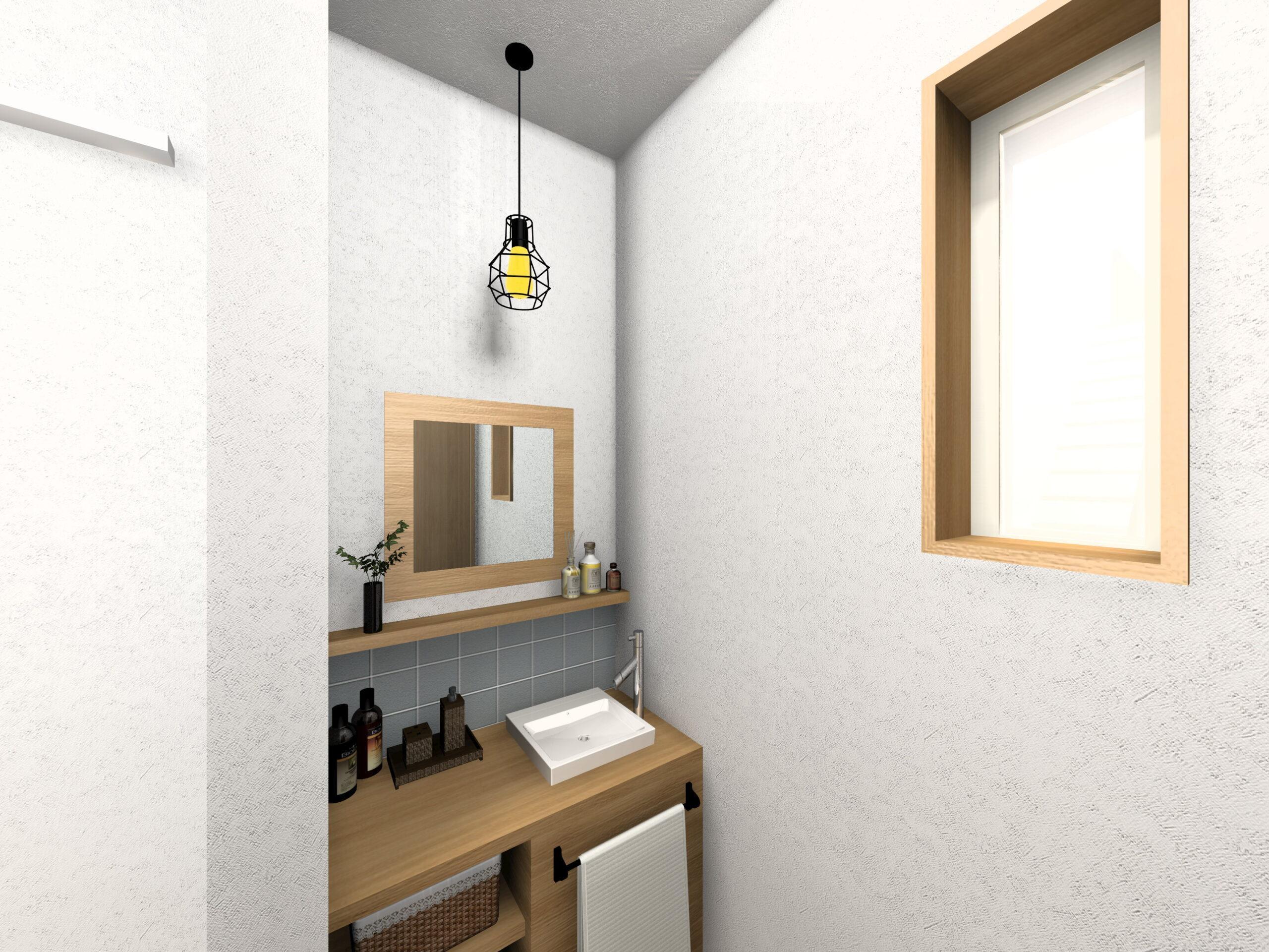 嬉野市新築建売住宅「OURS下野1号地」造作手洗いパース