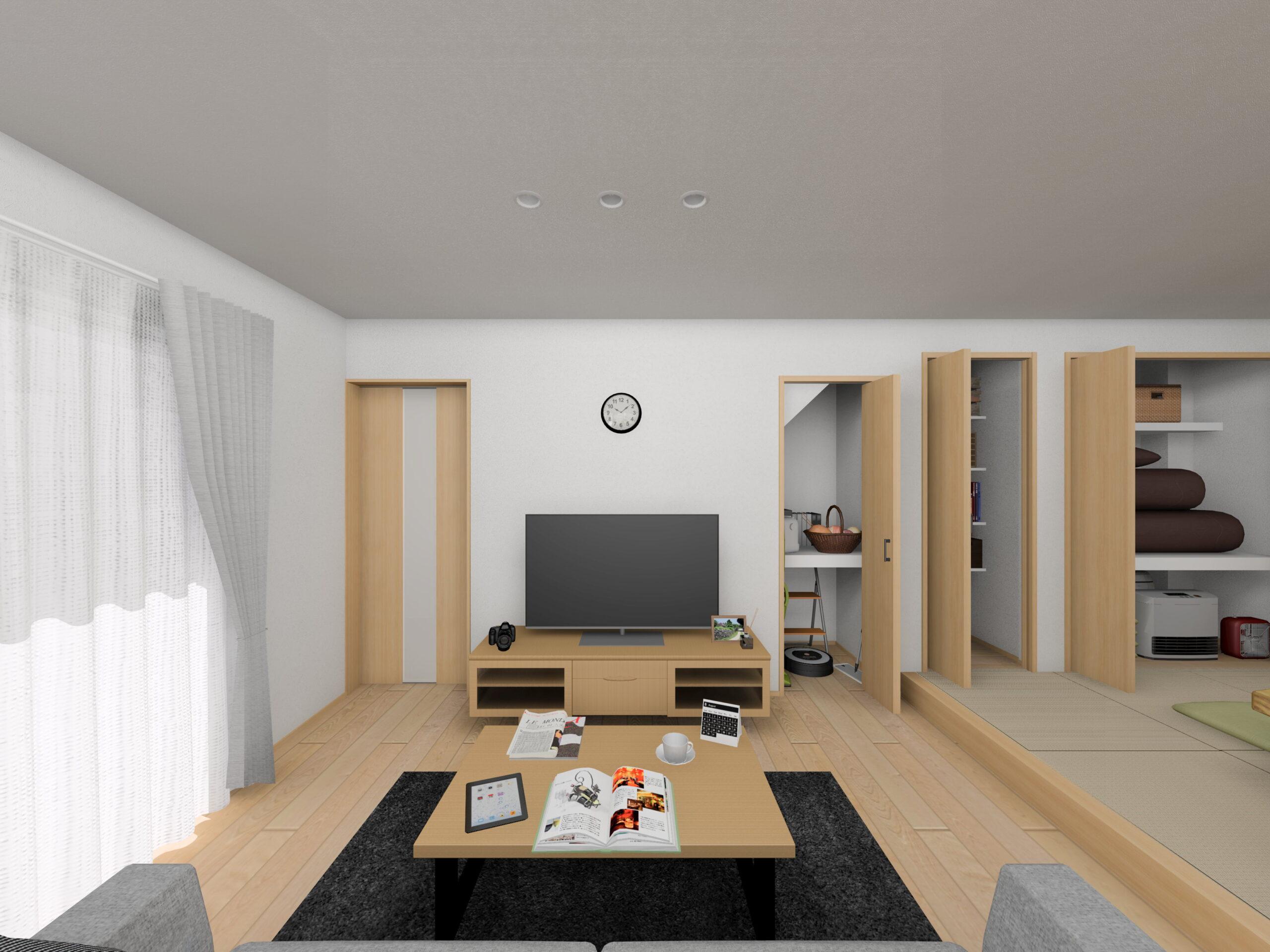 嬉野市新築建売住宅「OURS下野1号地」LDKパース