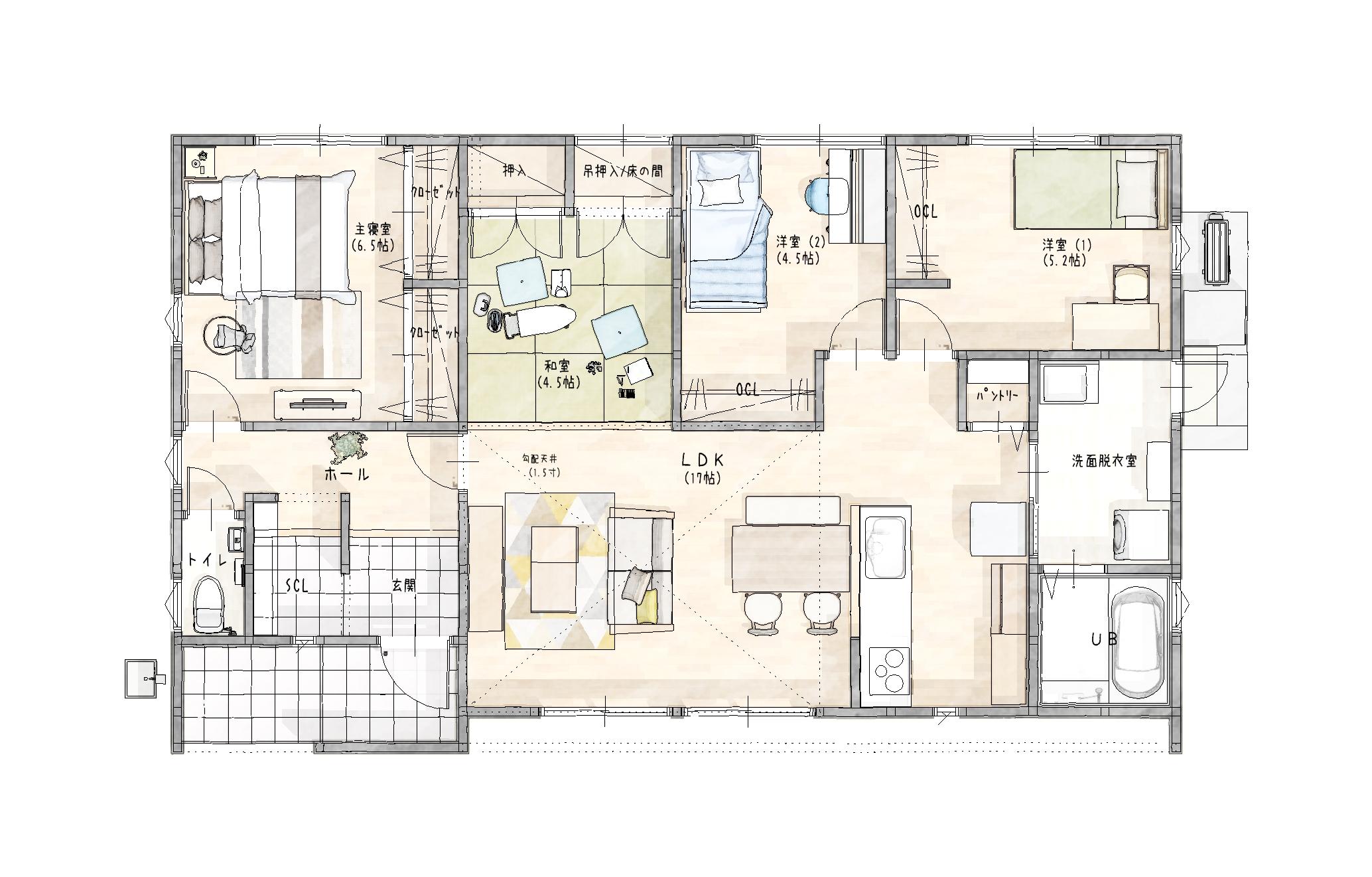 嬉野市新築建売住宅「OURS下宿」4号地平面図