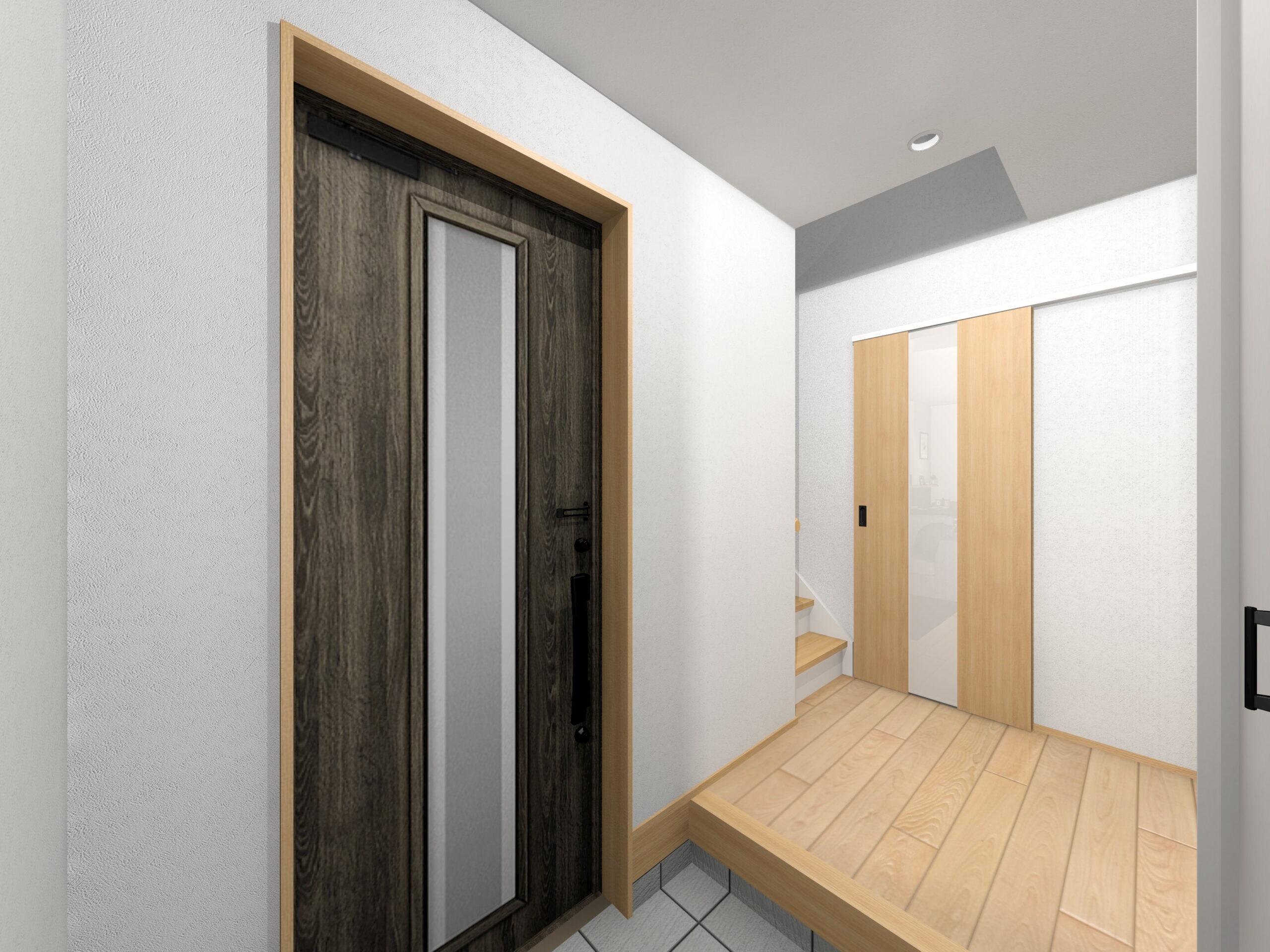 嬉野市新築建売住宅「OURS下野1号地」玄関ホールパース