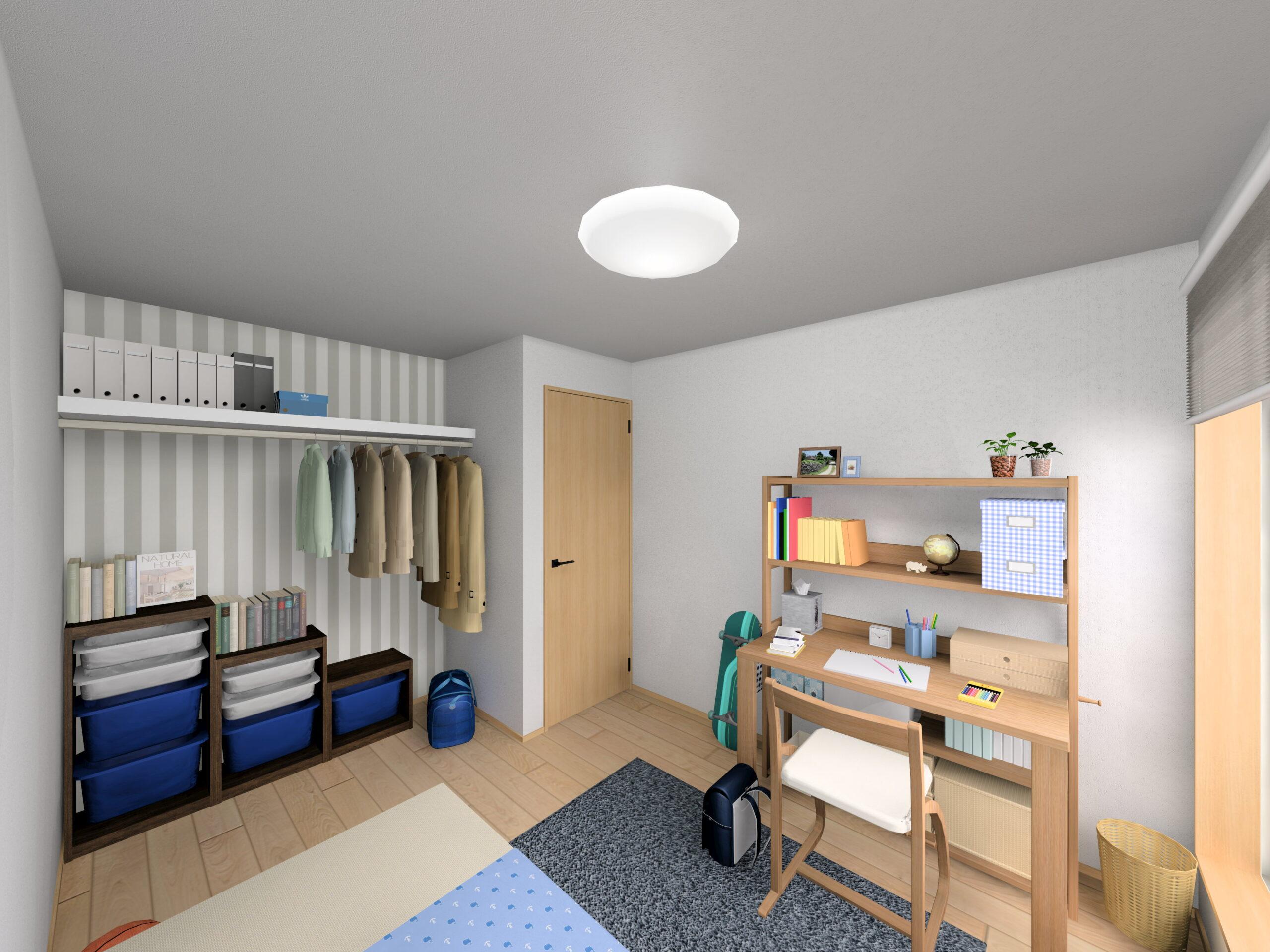 嬉野市新築建売住宅「OURS下野1号地」洋室②パース