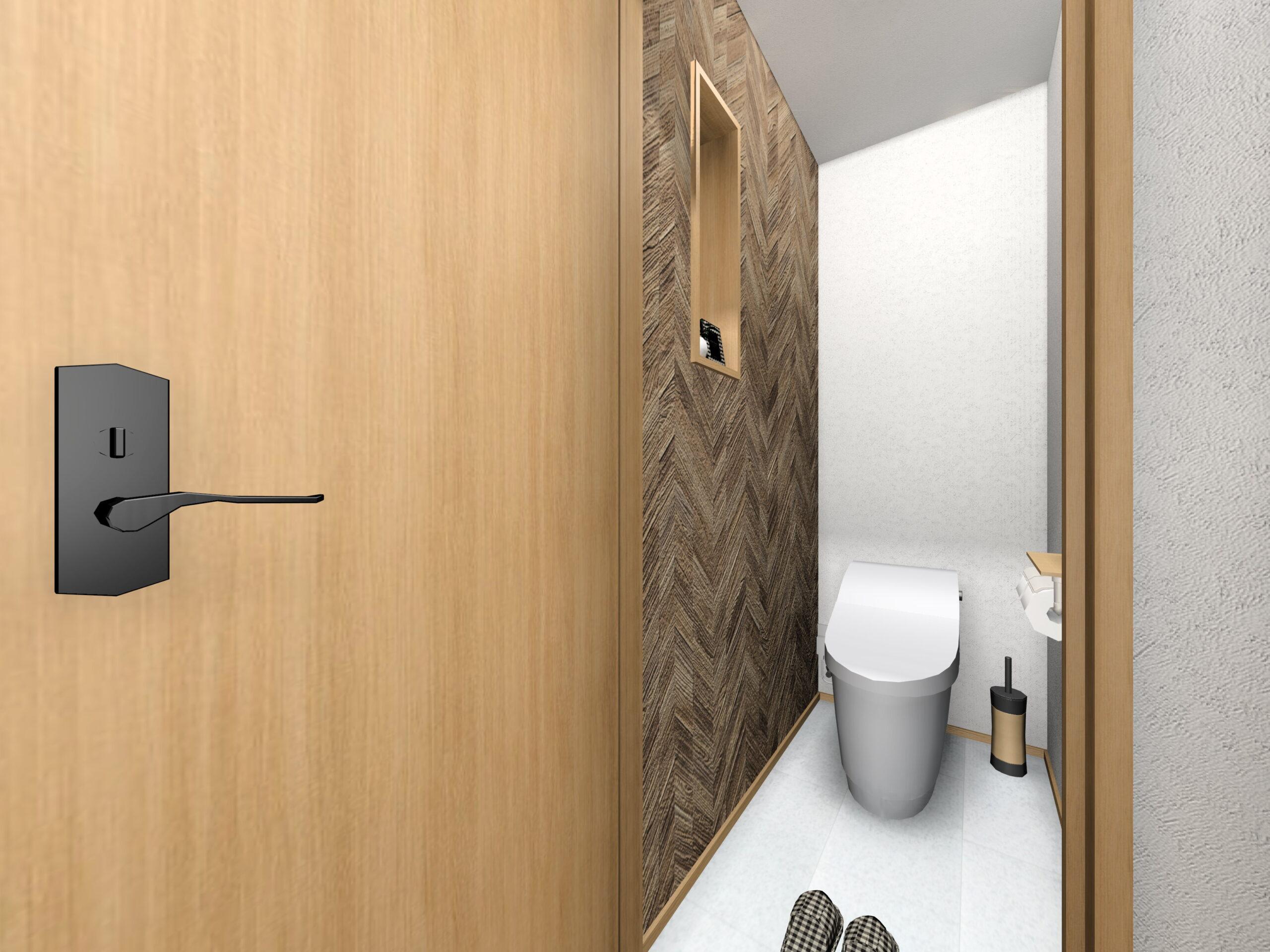 嬉野市新築建売住宅「OURS下野1号地」トイレ1Fパース
