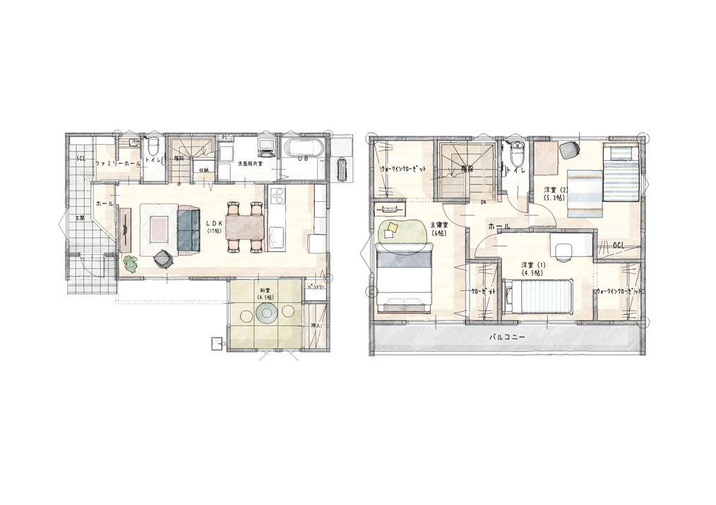 嬉野市新築建売住宅【OURS下宿】4号地平面図