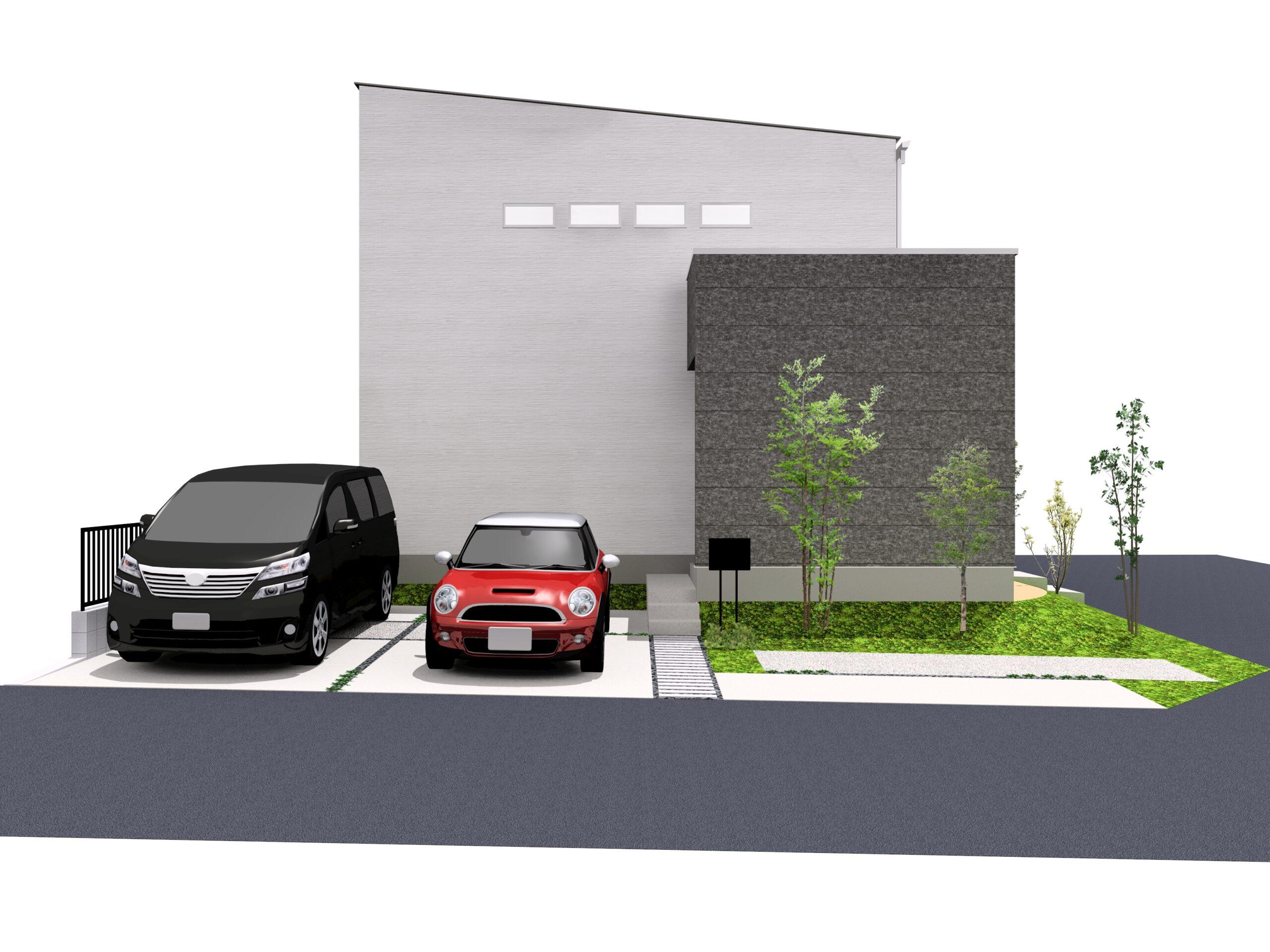 嬉野市新築建売住宅「OURS下野1号地」外観パース