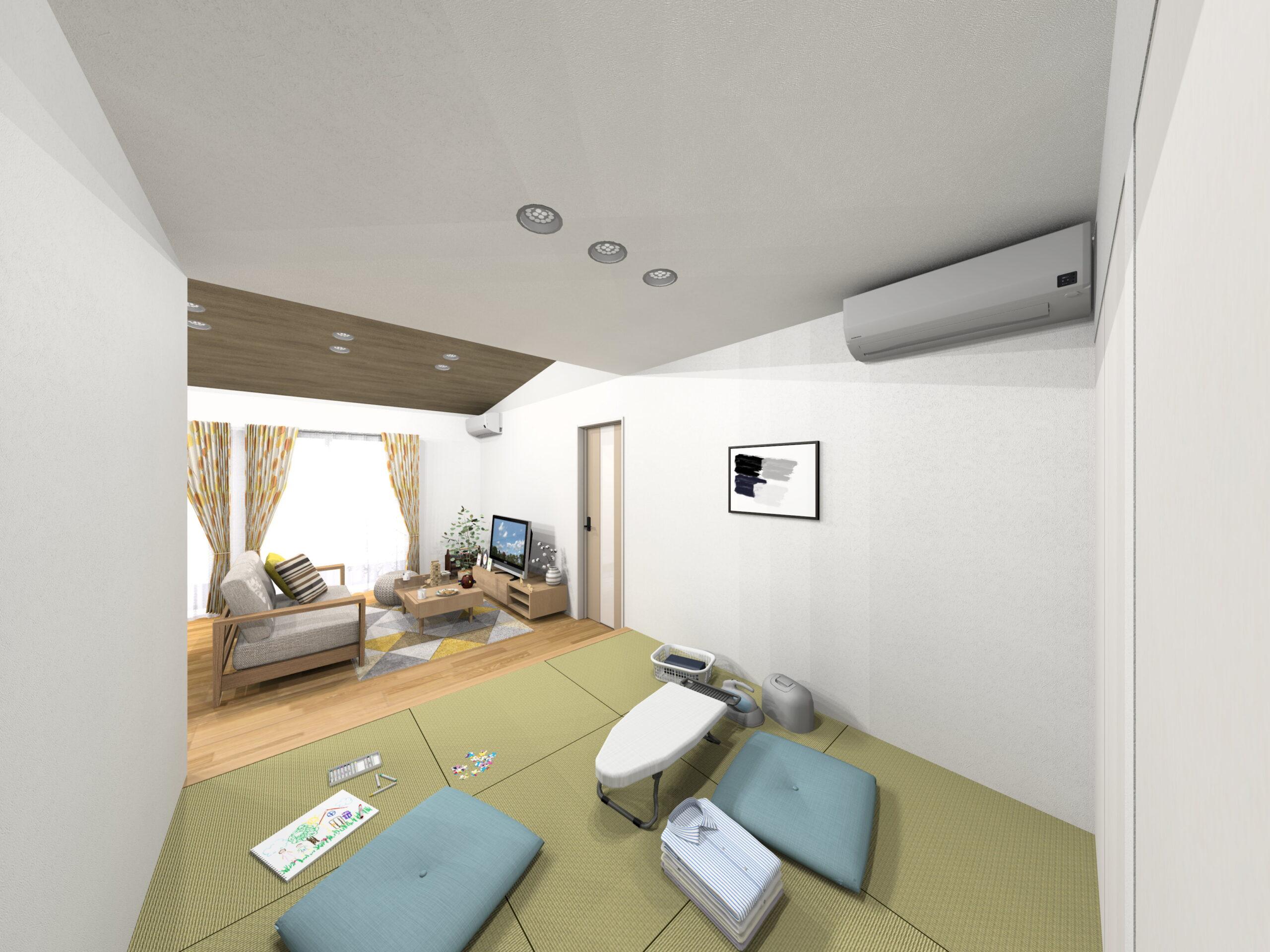 嬉野市新築建売住宅「OURS下宿」4号地和室パース