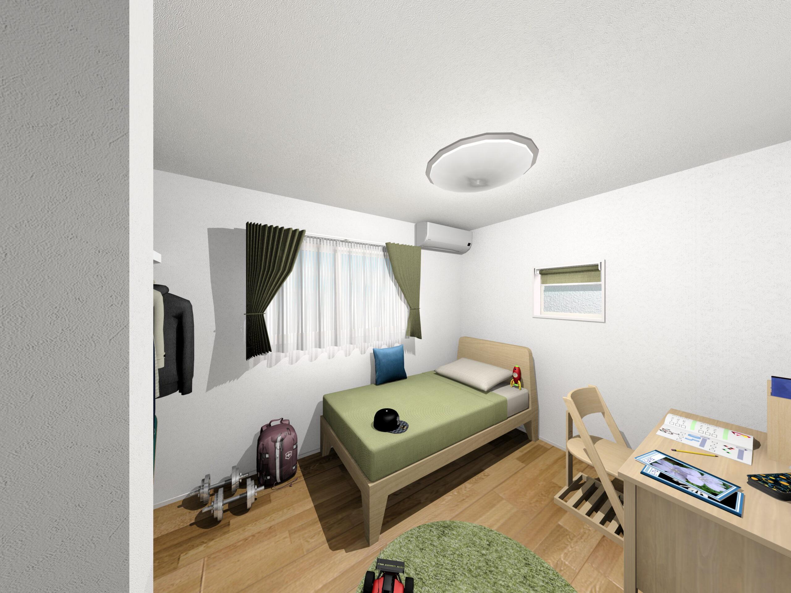 嬉野市新築建売住宅「OURS下宿」4号地洋室パース