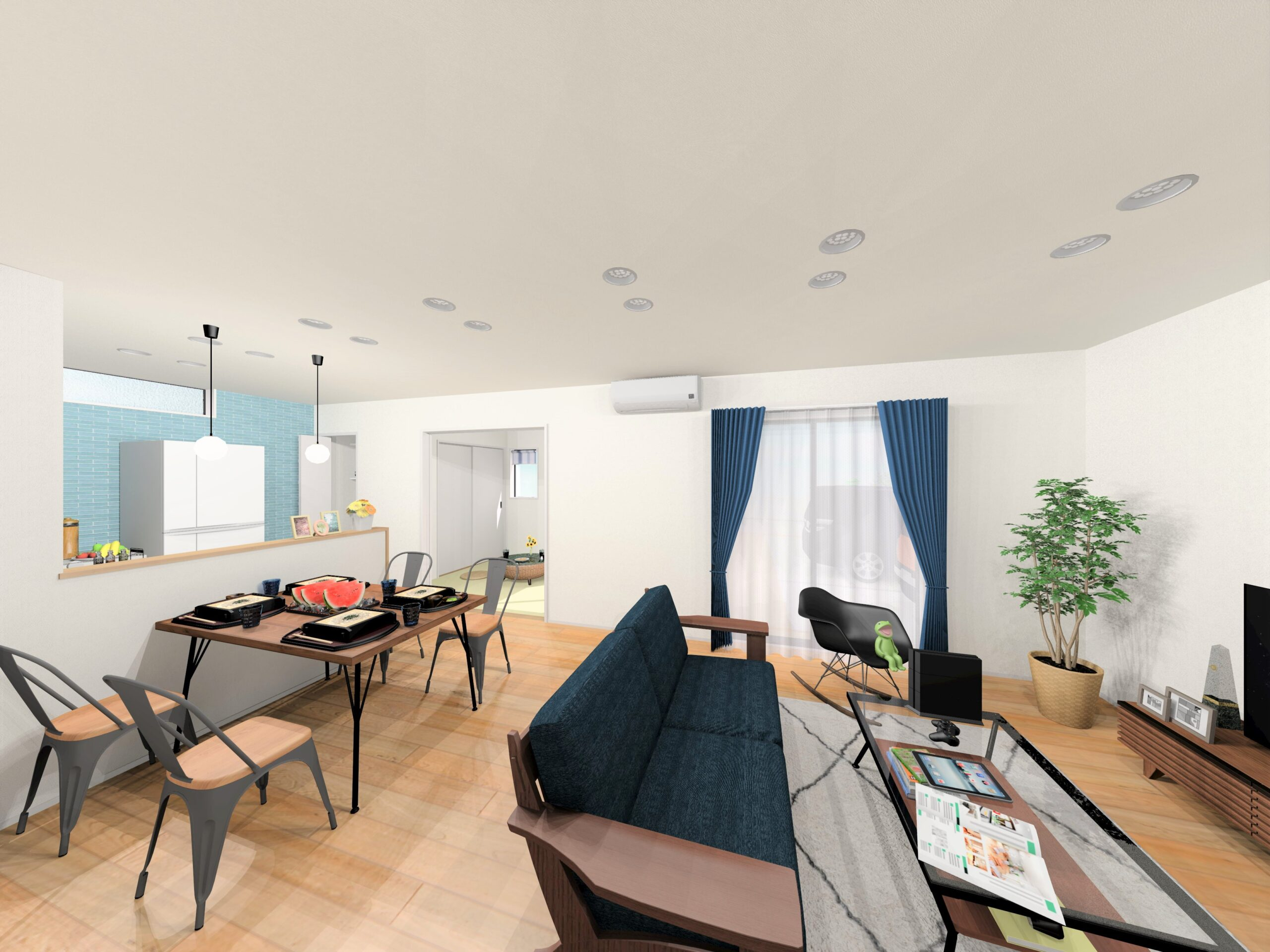 嬉野市新築建売住宅【OURS下宿】5号地LDKパース
