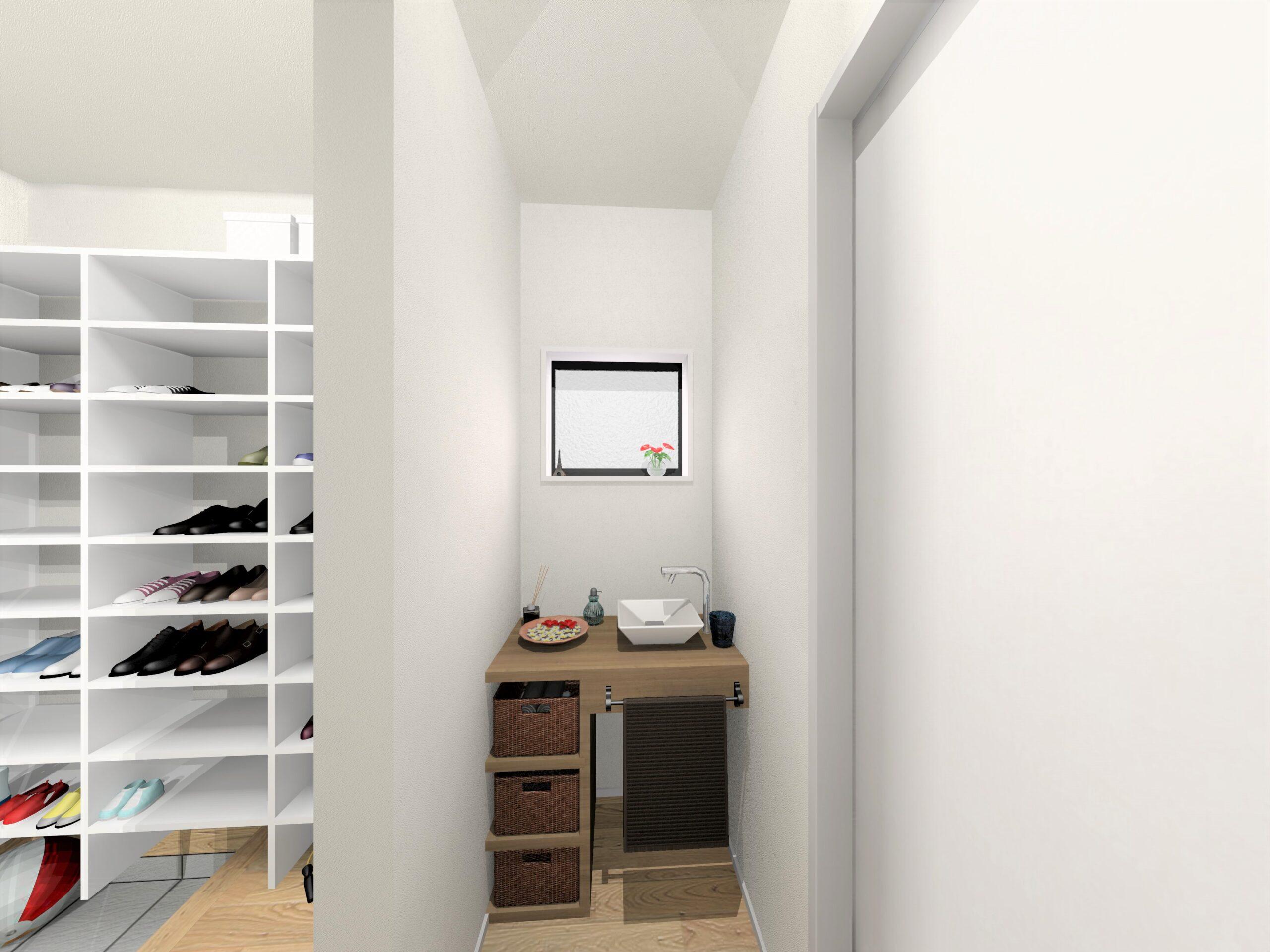 嬉野市新築建売住宅【OURS下宿】5号地ファミリーホールパース
