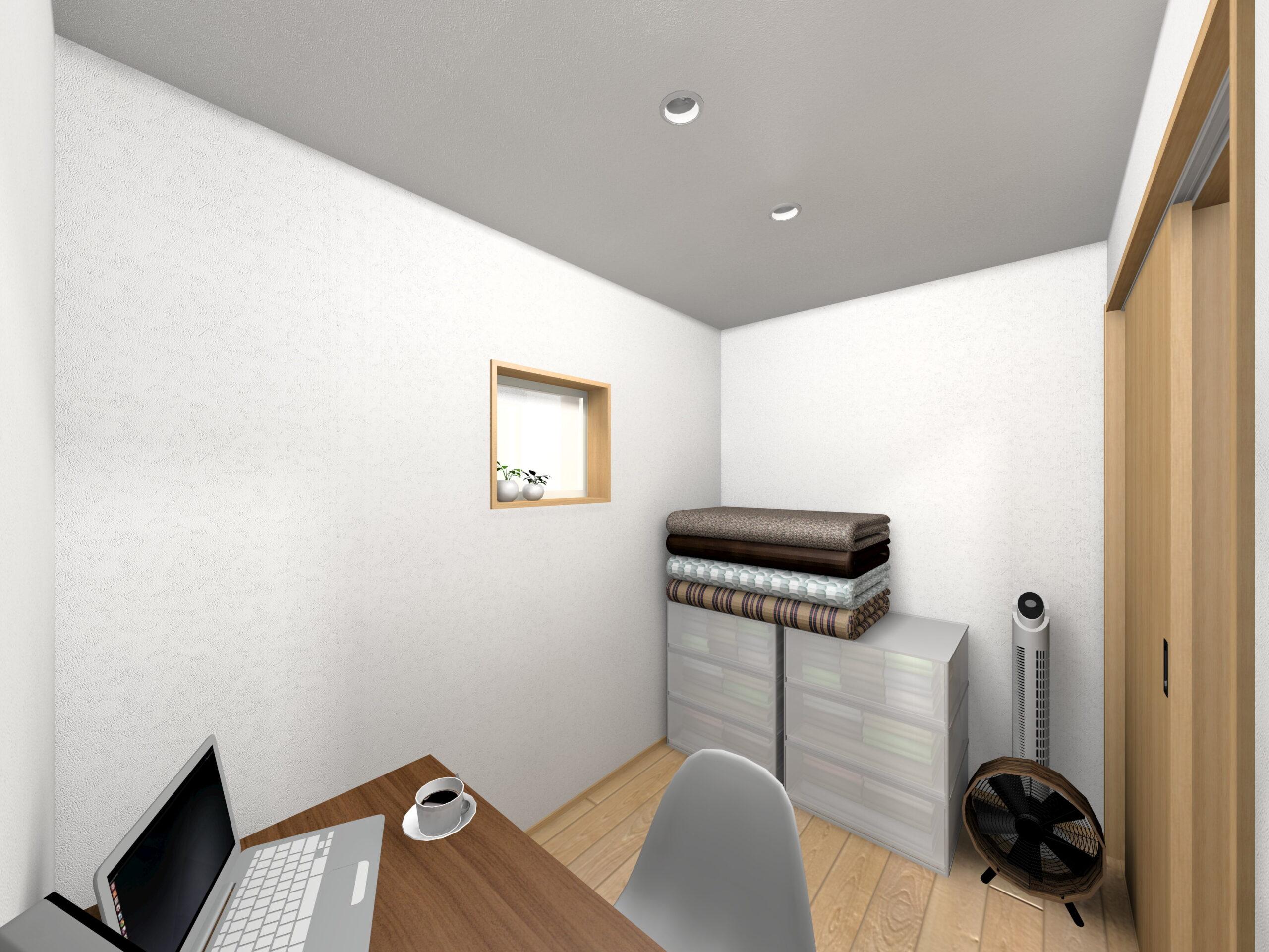 嬉野市新築建売住宅「OURS下野1号地」ファミリークローゼットパース