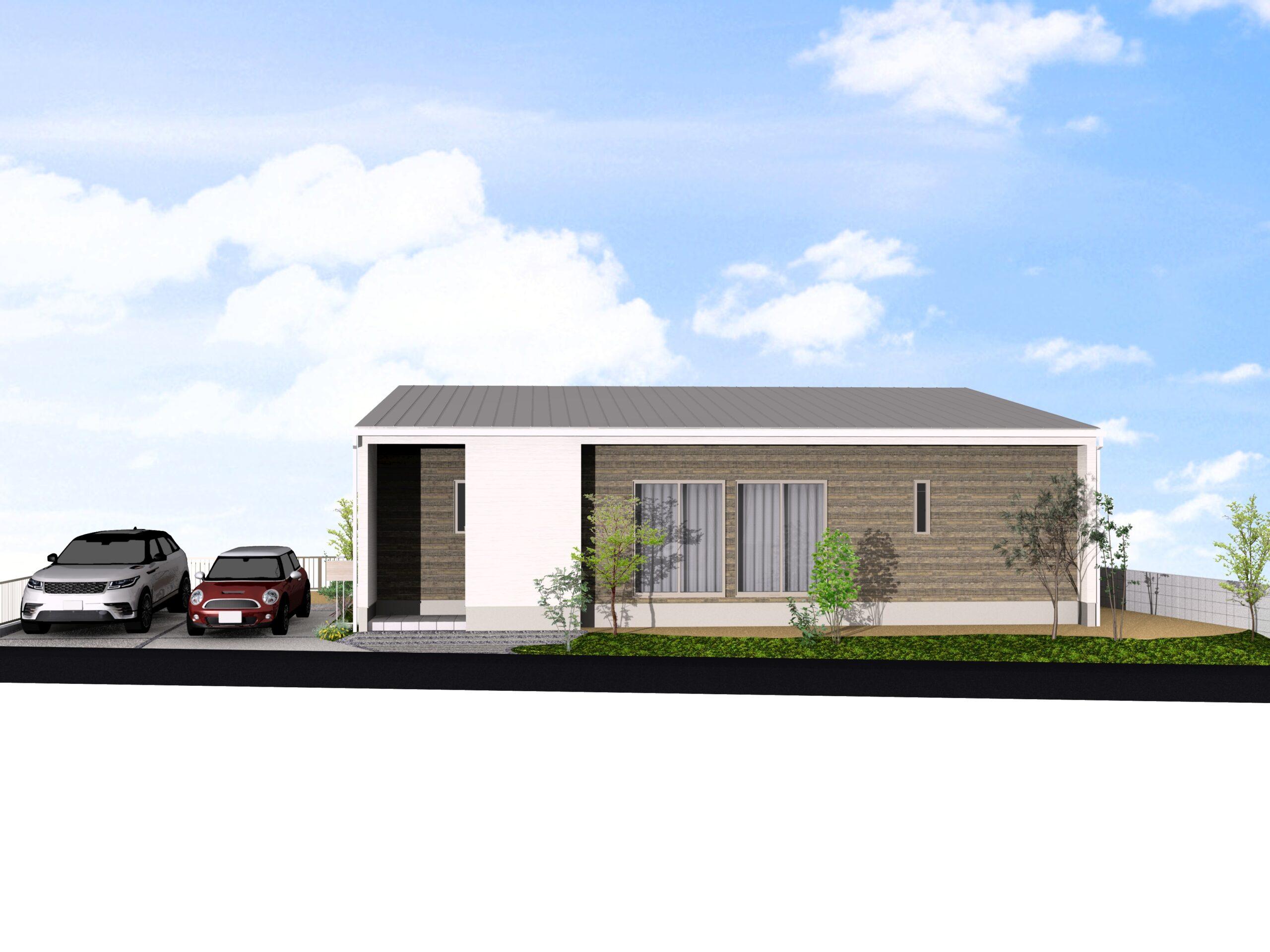 嬉野市新築建売住宅「OURS下宿」4号地外観パース