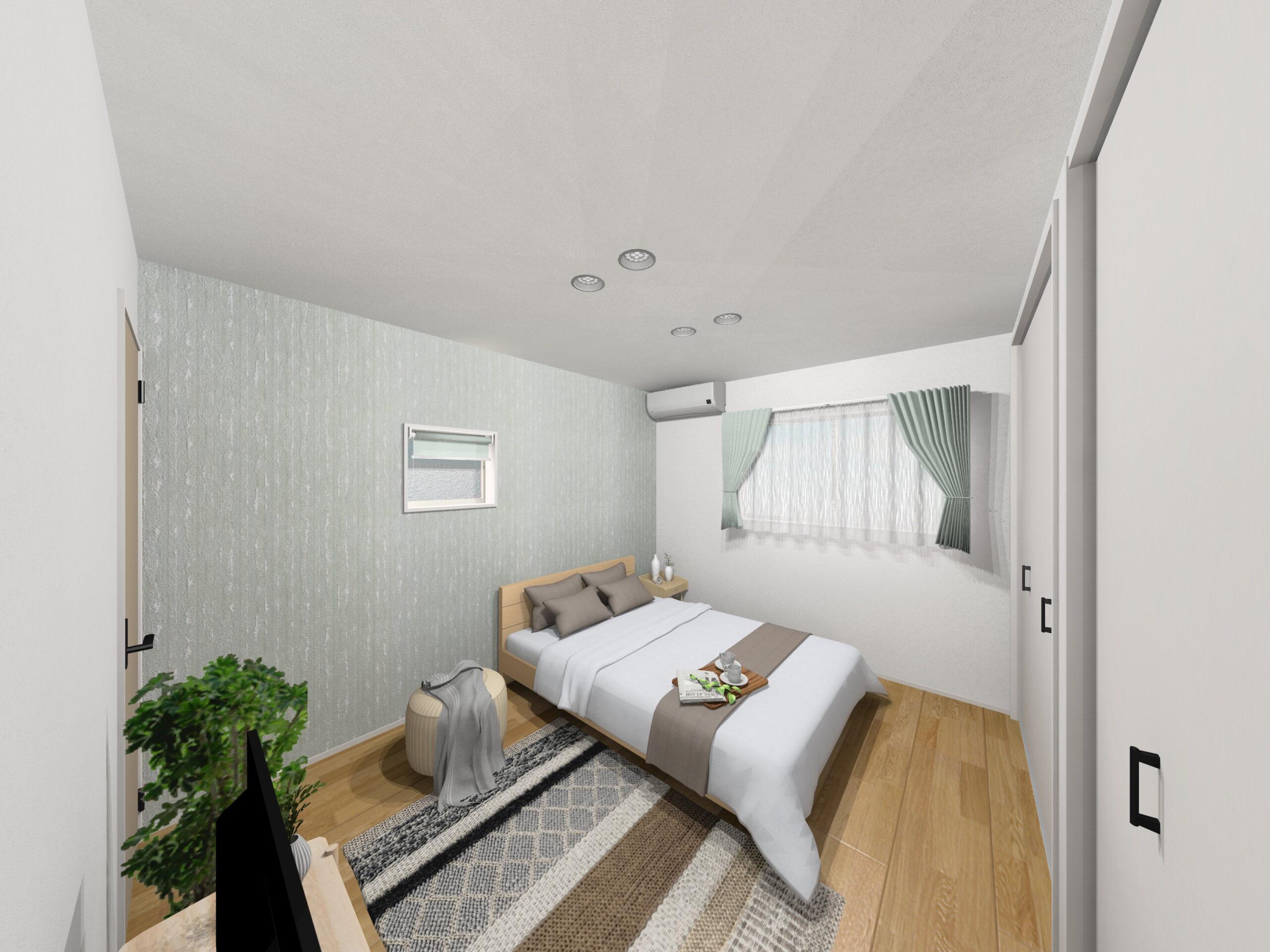 嬉野市新築建売住宅「OURS下宿」4号地主寝室パース